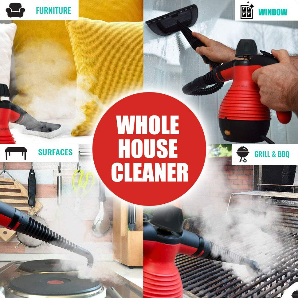 Comforday Steam Multi-Purpose Handheld Cleaner Will Clean Your Whole House
